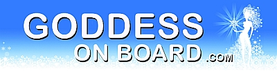Goddess On Board  bumper sticker